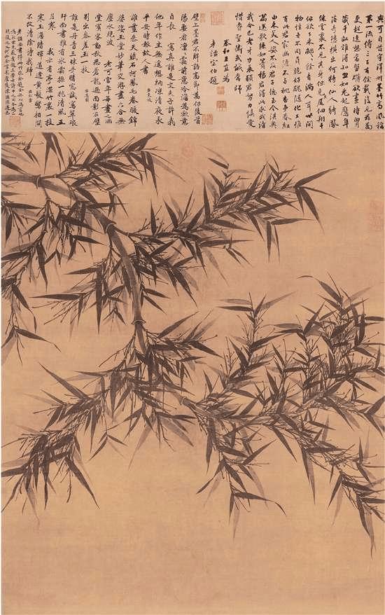 台北故宫博物院藏绢本宋文同墨竹图轴欣赏