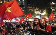 越南民众庆祝U23进决赛
