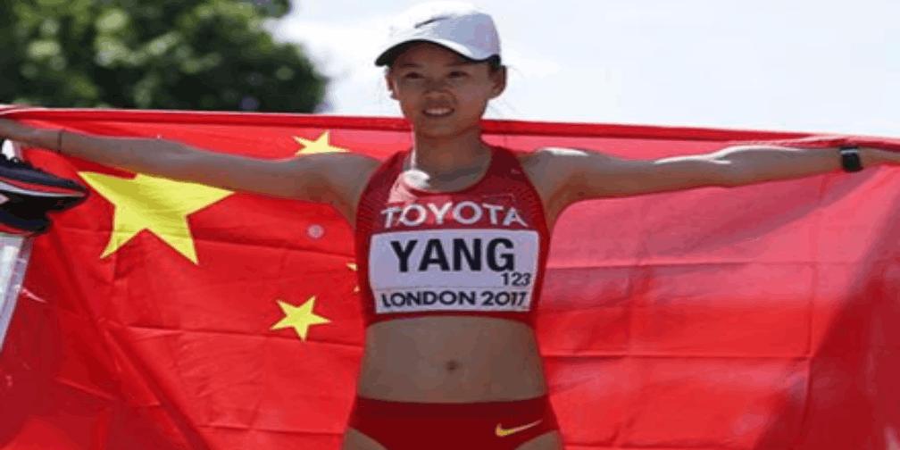 田径世锦赛杨家玉勇夺女子20公里竞走金牌