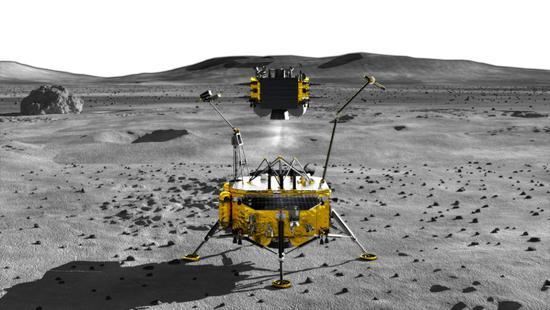 """""""四器""""组合的嫦娥五号采样返回器"""