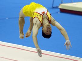 山西男子蹦床队获团体银牌
