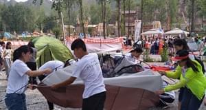 易县举办第六届保定大学生帐篷节