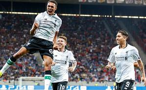 欧冠附加赛首回合:利物浦2-1霍村