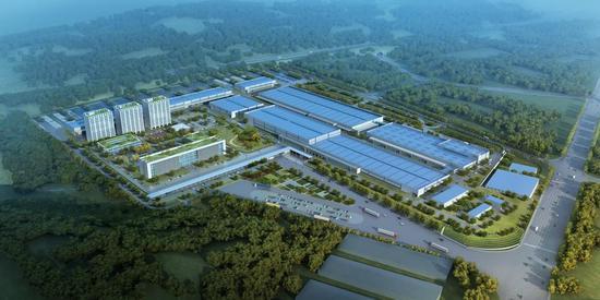 汉腾汽车产业园鸟瞰图