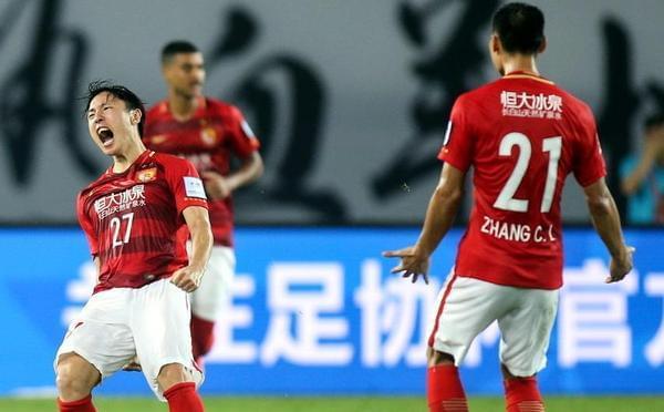 恒大1-0华夏幸福 郑龙激情庆祝进球