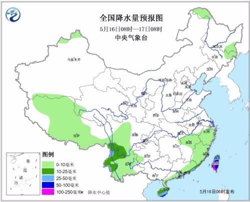 旅游天气:华北高温 广东海南台湾有强降雨