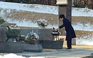 朴槿惠被停职后首次外出