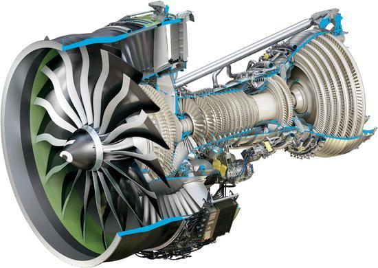 资料图:航空发动机核心机。