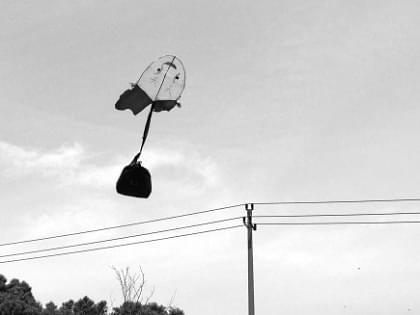 放飞环保风筝