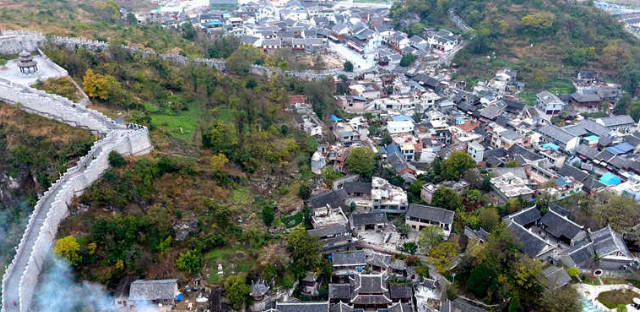 航拍贵州青岩古镇 感受600年悠悠古韵