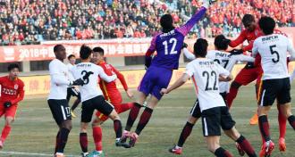 新赛季主场首秀长春亚泰1-1战平北京人和