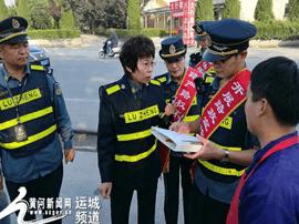 运城公路段路政管理大队突击取缔日凤线违法占道