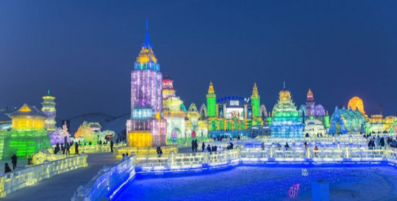 哈尔滨冰雪大世界除夕五次登上央视