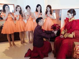 安以轩着中式礼服出嫁 高颜值伴娘伴郎团太惊艳!