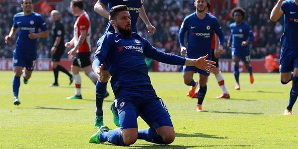 吉鲁替补2球阿扎尔破门 切尔西3-2逆转圣徒