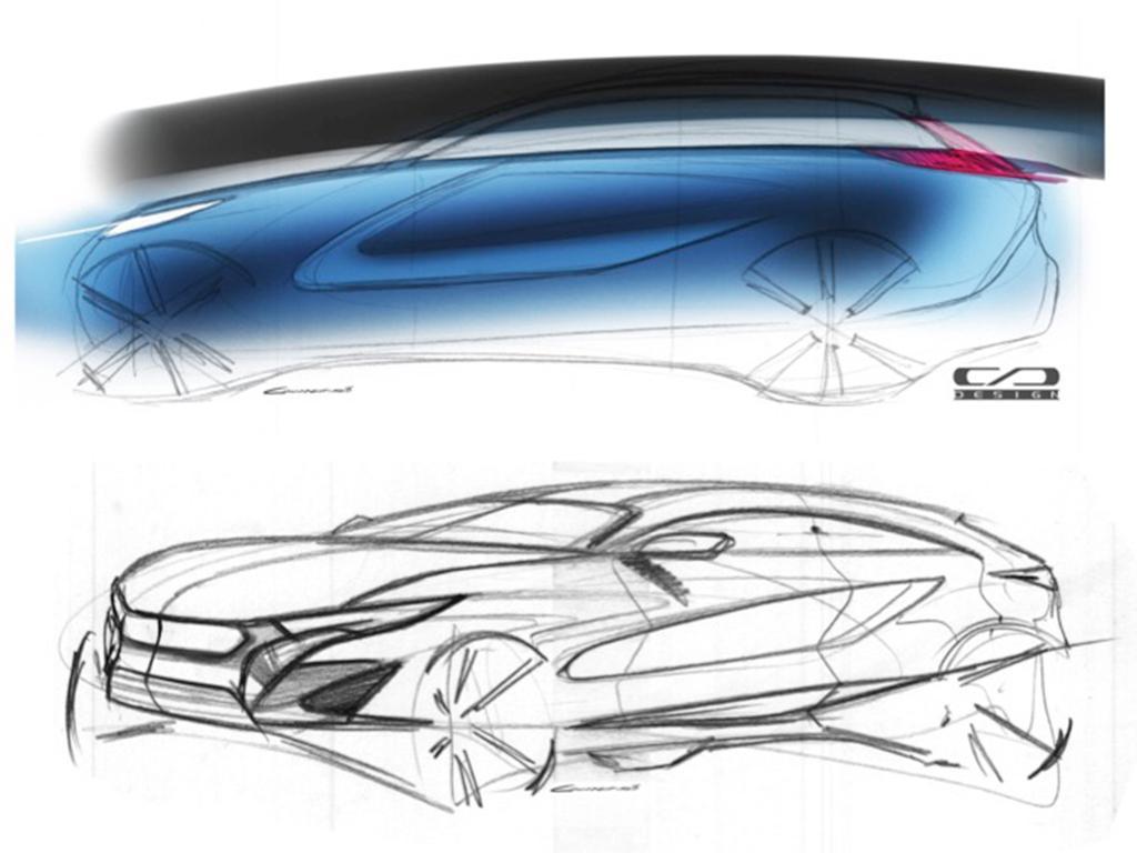 内部代号V302 长安全新SUV设计草图曝光