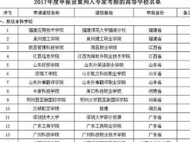 2018年全国或将新增21所本科学校