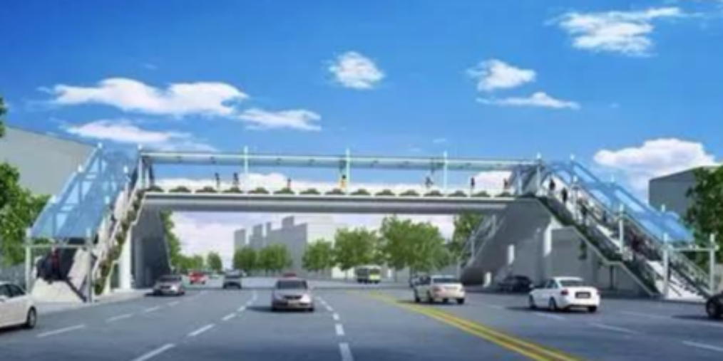 中心区又要建一座天桥 快看看是哪?