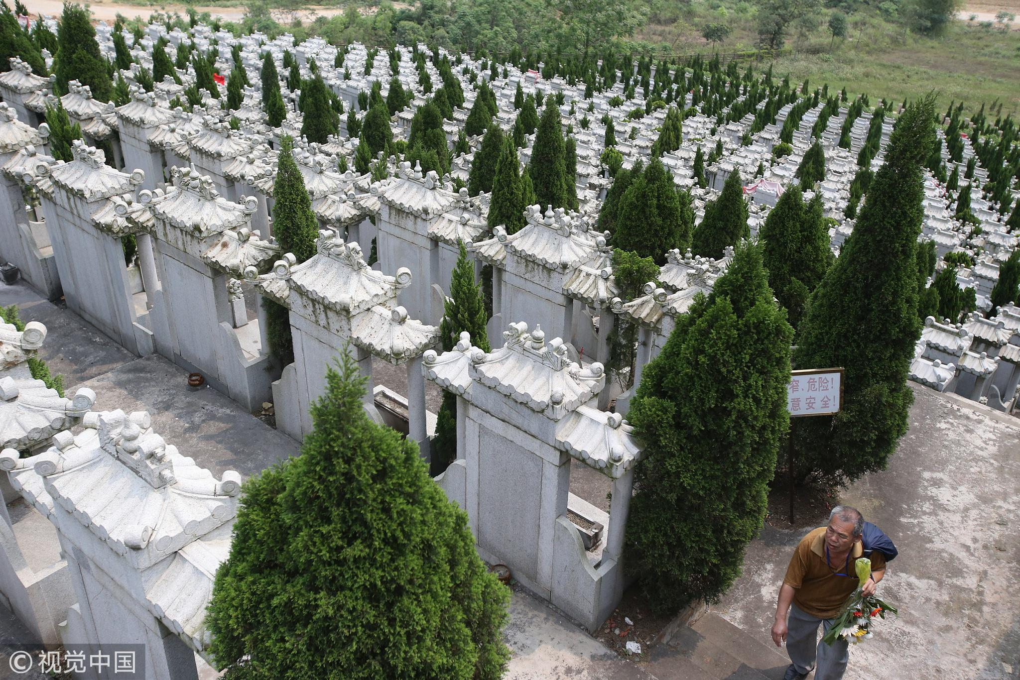 2013年03月29日,广西壮族自治区南宁市佛子岭公墓里有部分墓地已经到期,按规定需要续交管理费。/视觉中国