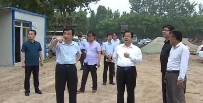 武邑县长王成宗就卫片图斑整改进行督导