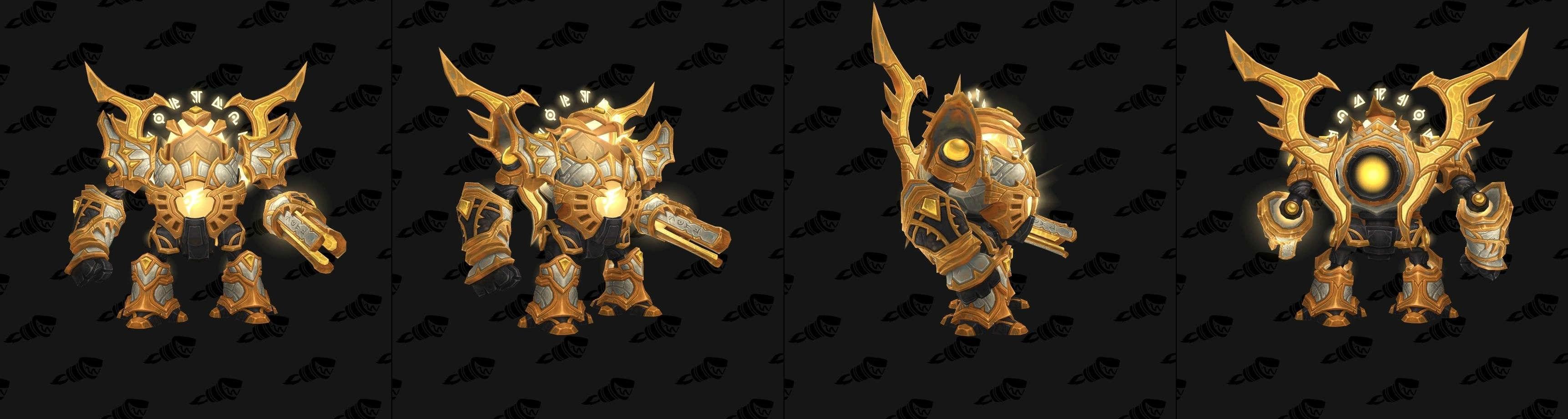 魔兽7.3新坐骑预览:闪瞎眼睛的光铸魔像