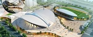 河西居然要建高大上的体育中心,疑似效果图曝光!