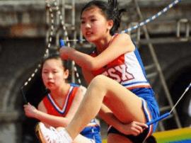 山西省近500学生角逐跳绳联赛总决赛