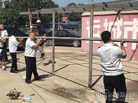 运城市城管支队集中综合整治圣惠北路