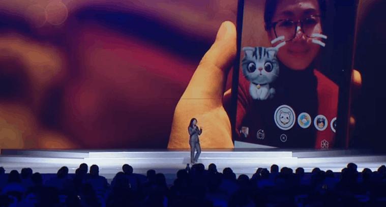 苹果大中华区董事总经理葛越展示苹果AR kit