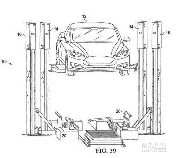 """只用15分钟 特斯拉申请""""电池交换机""""专利"""