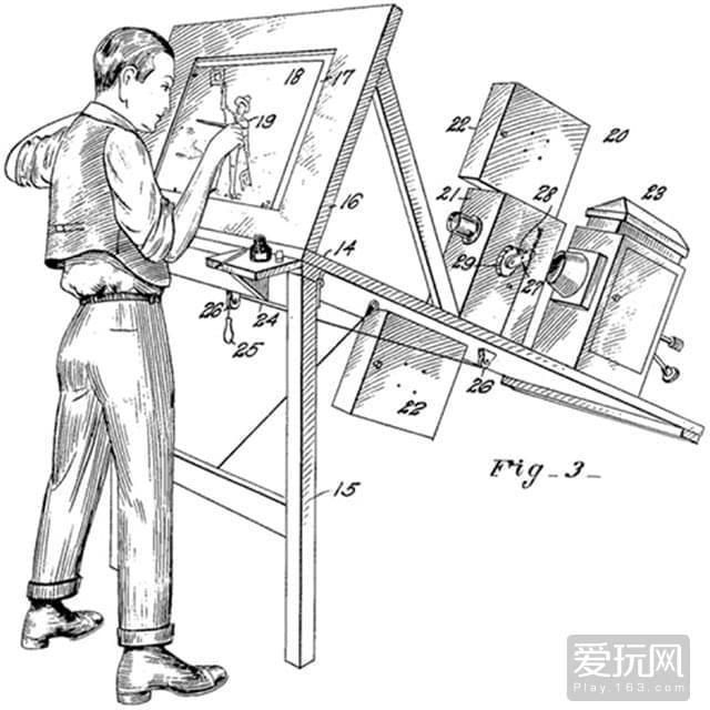 4.转描技术示意图,这种技术的好处是可以使零基础画师也能画出流畅的动画