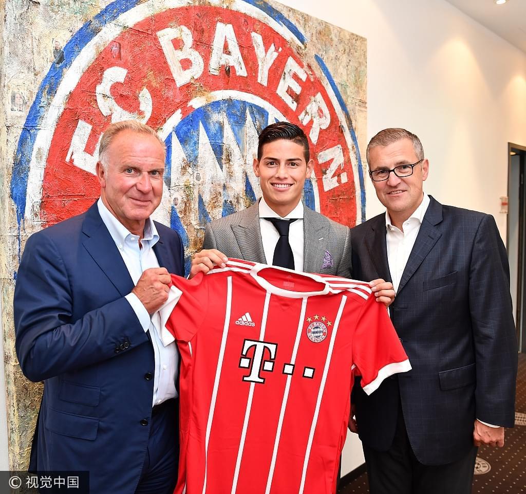 拜仁宣布J罗转会正式完成26岁生日签约穿11号