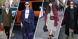 众明星造型时尚现身2018伦敦时装周看秀
