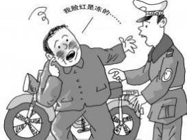 夏县:无牌无证驾驶摩托车 醉酒驾驶被查获