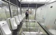 湖南现国内首个全透明公厕