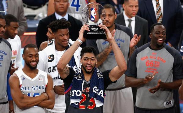 安东尼-戴维斯获得2017NBA全明星MVP