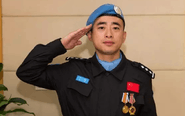 """泰州首位维和警察丁晖当选4月""""最美青年"""""""