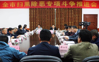 桂林召开全市扫黑除恶专项斗争推进会