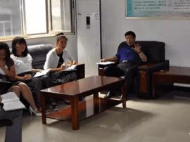 运城市水务局局长靳虎刚到局应急办、水政执队现场办公