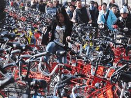 单车围城考验运管能力:有人从垃圾堆里拽出自行