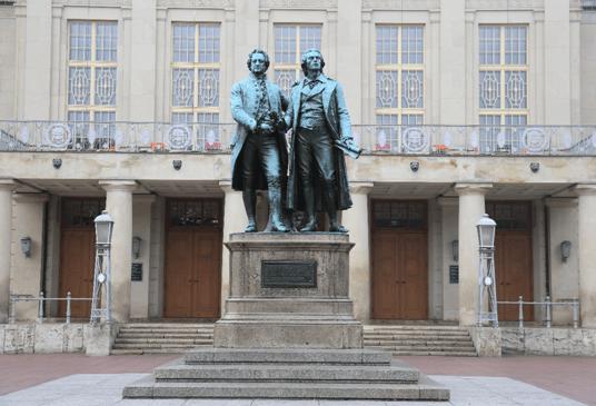 歌德和席勒雕像