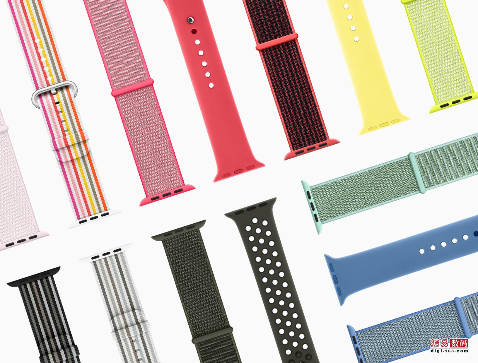 苹果推出多款春日配色Apple Watch表带
