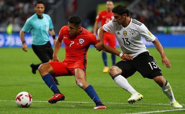联合会杯-比达尔助攻桑切斯 智利1-1德国
