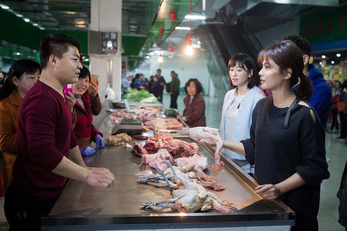 刘涛变总厨菜场买鸡