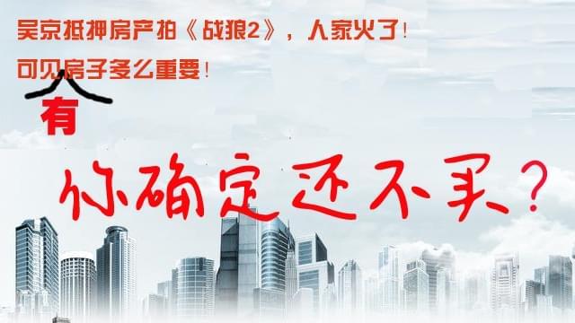 吴京抵押房产拍《战狼2》 有套房子太重