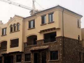 尚海湾 | 建面约241㎡双拼别墅样板房加速建设中