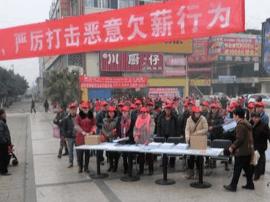 卢氏县法院联合各部门开展农民工维权宣传活动