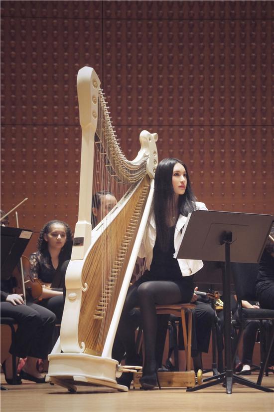 旅美著名箜篌演奏家月亮登卡内基音乐厅