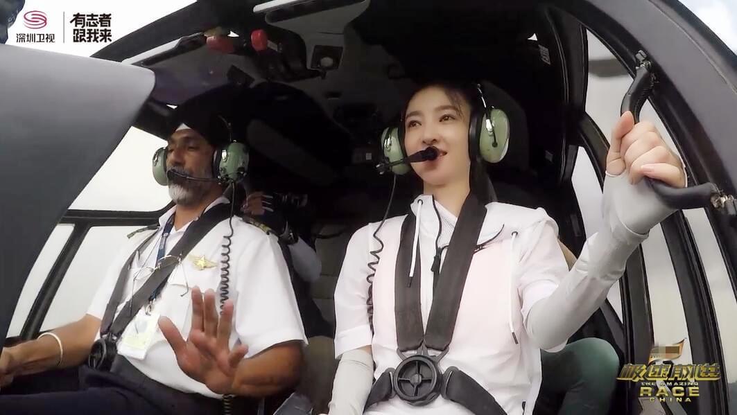 上天了!《极速4》贾静雯王丽坤开直升机太帅气