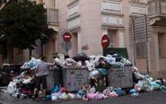 工人罢工 雅典遭垃圾围城